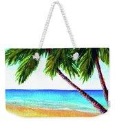 Hawaiian Beach Palm Trees  #425 Weekender Tote Bag