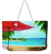Hawaiian Beach Wave Art Print Painting #441 Weekender Tote Bag