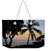 Hawaiian Big Island Sunset  Kailua Kona  Big Island  Hawaii Weekender Tote Bag