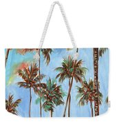 Hawaiian Cottage With Pink And Red Tropical Flowers Weekender Tote Bag
