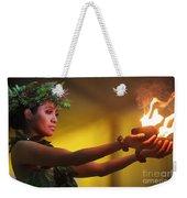 Hawaiian Dancer And Firepots Weekender Tote Bag