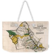 Hawaiian  Islands Map 1881 Weekender Tote Bag