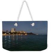 Hawaiian Lights - Waikiki Beach And Diamond Head Volcano Crater Weekender Tote Bag