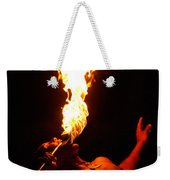 Hawaiian Luau Fire Eater Weekender Tote Bag