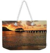 Hawaiian Sunset Hanalei Bay 1 Weekender Tote Bag