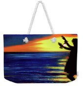 Hawaiian Sunset With Hula Dance  #183, Weekender Tote Bag