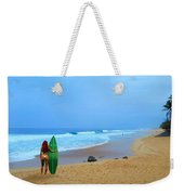 Hawaiian Surfer Girl Weekender Tote Bag