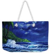 Hawaiian Tropical Ocean Moonscape Seascape #377 Weekender Tote Bag
