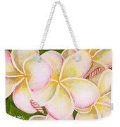 Hawaiian Tropical Plumeria Flower #483 Weekender Tote Bag