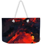 Hawaiian Volcano Lava Flow Weekender Tote Bag