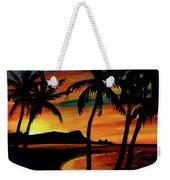 Hawaiian Waikiki Sunrise Over Diamond Head  #266 Weekender Tote Bag