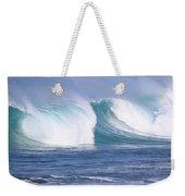 Hawaiian Winter Waves Weekender Tote Bag
