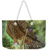 Hawk In The Evergreens Weekender Tote Bag by Darren Cannell