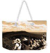 Hawk Mountain In Sepia Weekender Tote Bag