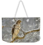 Hawk On Lookout Weekender Tote Bag by George Randy Bass