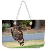 Hawk On The Fly Weekender Tote Bag