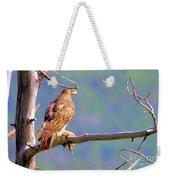 Hawk With Prey Weekender Tote Bag