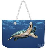 Hawksbill Sea Turtle In Mid-water Weekender Tote Bag