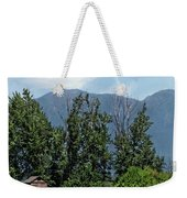 Hay Bales And A Barn - Kalispell Montana Weekender Tote Bag