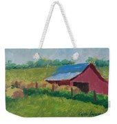 Hay Bales In Morning Light Weekender Tote Bag