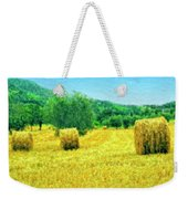 Hay Harvest In Tuscany Weekender Tote Bag