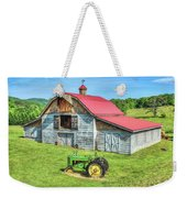 Hayesville Barn And Tractor Weekender Tote Bag