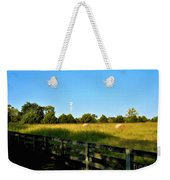 Hayfield With Distant Cell Tower Weekender Tote Bag