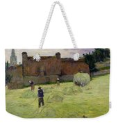 Haymaking In Brittany Weekender Tote Bag