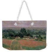 Haystack At Giverny Weekender Tote Bag