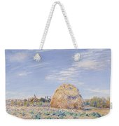 Haystack On The Banks Of The Loing Weekender Tote Bag