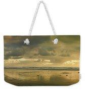 Haystack Sunset Panorama Weekender Tote Bag