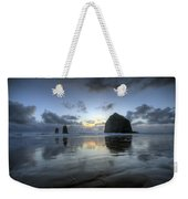 Haystacks At Sunset Weekender Tote Bag