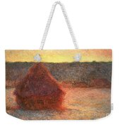 Haystacks At Sunset Weekender Tote Bag