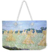 Haystacks The Young Ladies Of Giverny Sun Effect Weekender Tote Bag