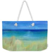 Hazy Beach Mini Oil On Masonite Weekender Tote Bag