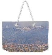 Hazy Low Cloud Morning Boulder Colorado University Scenic View  Weekender Tote Bag by James BO  Insogna