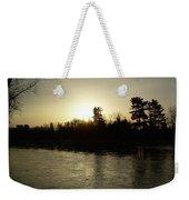 Hazy Mississippi River Sunrise Weekender Tote Bag