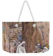 He Did No Miracles Save That He Healed Them Weekender Tote Bag