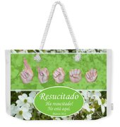 He Is Risen Spanish Weekender Tote Bag