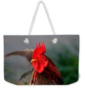 He Is The First In The Morning Weekender Tote Bag