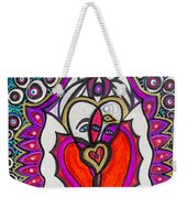 He She Heart Weekender Tote Bag