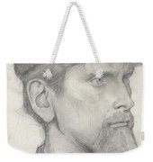 Head Of A Man With A Hat Weekender Tote Bag