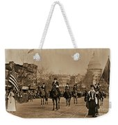 Head Of Washington D.c. Suffrage Parade Weekender Tote Bag