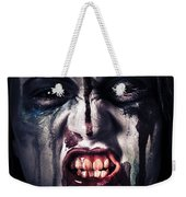 Head Shot On A Pure Evil Zombie Girl Weekender Tote Bag