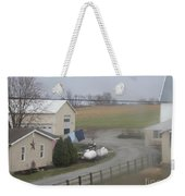 Heading To The Barn To Do Chores Weekender Tote Bag