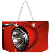 Headlamp On Red Firetruck Weekender Tote Bag