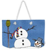 Headless Snowman Weekender Tote Bag by Nancy Mueller