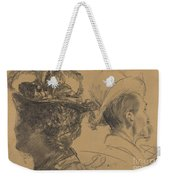 Heads Of A Man And A Woman Weekender Tote Bag