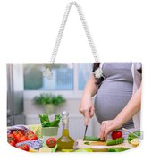 Healthy Nutrition For Pregnant Woman Weekender Tote Bag