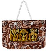 Hear No Evil, See No Evil, Speak No Evil Weekender Tote Bag